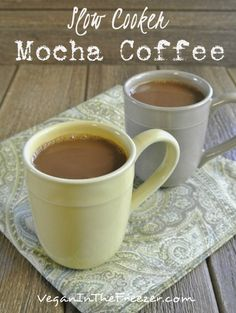 Slow Cooker Mocha Coffee gives you the chance to have a crock pot full of chocolate flavored coffee for your family and friends