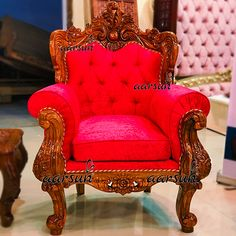 Wood Sofa, Church Furniture, Sofa Design, Sofa, Fabric Sofa, Pink Fabric, Sofa Chair, Sofa Set, Carved Sofa