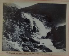 Waterfall near the Olden glacier Norway