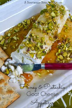 Honey & Pistachio Goat Cheese Appetizer