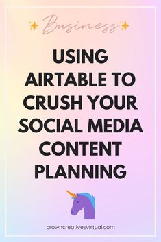 Airtable has completely transformed the way we do business. There isn't one part of our business that we don't use airtable for. Seriously. Not a one. Here's how we use it for social media content planning. #virtualassistant #socialmedia #airtable