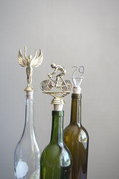 Cycling  Vintage Trophy Cork Wine Bottle Stopper by Caprock Studio (via Etsy).