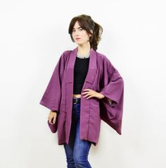 Vintage antique kimono kimono jacket purple kimono by bohokimono