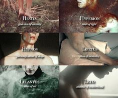 Greek Gods, Titans, and Primordial Beings | Names starting with H-L