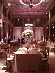 Pink lilac blush purple lavender bently reserve San Francisco ballroom grand tall centerpieces round tables flowers white roses #nancyliuchin