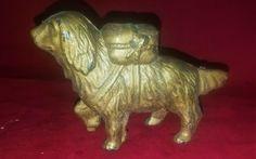 Bernard cast iron piggy bank rescue dog Newfoundland still with pack Cast Iron, It Cast, Ebay Auction, Newfoundland, Rescue Dogs, Piggy Bank, Lion Sculpture, Vintage, Art