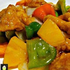 Authentic Cantonese Sweet and Sour Chicken, come and see how to make it just like in the restaurants! Chinese food at it's best! Meat Recipes, Asian Recipes, Chicken Recipes, Cooking Recipes, Ethnic Recipes, Chinese Recipes, Asian Foods, Free Recipes, Maggi Recipes
