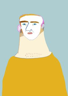 man illustration by Ashley Percival. character illustration