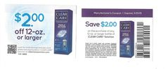 Clear Care Solution 03/31/2015 ~ $2.00 on ONE (1) bottle