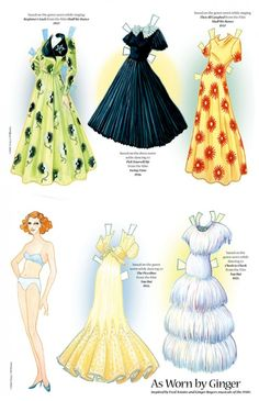 Ginger Rogers paper doll. Do not know where I got this picture. Wish I did. It is beautiful.