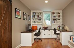 Home Office for 2 - love the window wall