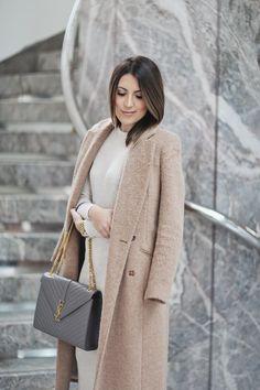 River Island Camel Coat x Sweater Dress