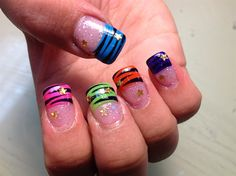 colorful tips zebra by dbsklover - Nail Art Gallery nailartgallery.nailsmag.com by Nails Magazine www.nailsmag.com #nailart