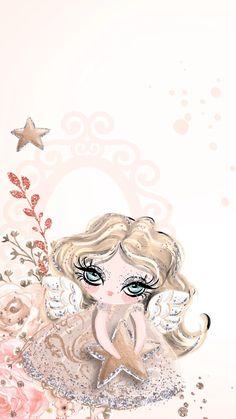 ❣︎∣ᴮᵞᵛᴵ·⁴·ᵞᴼᵁ∣❣︎ Glitter Phone Wallpaper, Angel Wallpaper, Watercolor Wallpaper, Iphone Wallpaper, Mermaid Drawings, Disney Drawings, Cute Drawings, Cute Girl Drawing, Floral Logo