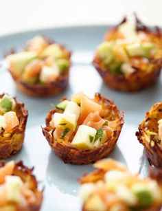 Potato nests filled with gingered crab by Beatrice Peltre, author of La Tartine Gourmande.