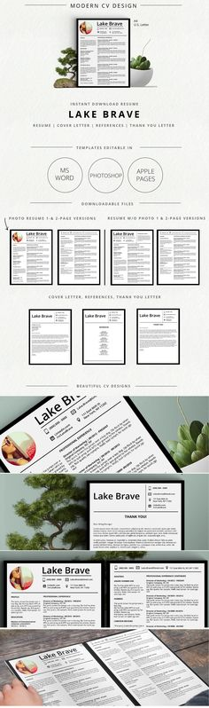 Gift voucher gift vouchers print templates and text fonts modern resume template with a photo and no photo version matching cover letters 1 and 2 page resume versions thank you letter and references templates negle Images