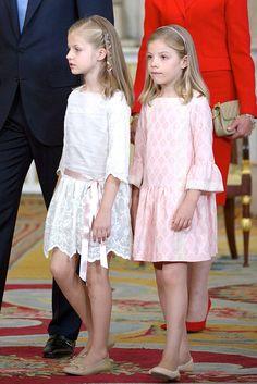 Las infantas de espana Leonor y Sofia