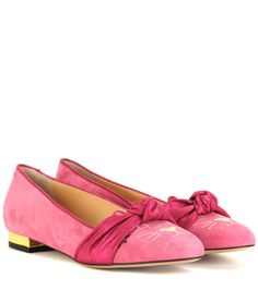 mytheresa.com - Eccentric Kitty suede ballerinas - Luxury Fashion for Women / Designer clothing, shoes, bags