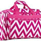 Pink and white zig zag duffle bag. This bag is huge!