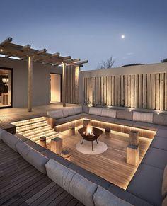 Back Garden Design, Terrace Design, Luxury Homes Dream Houses, Backyard Patio Designs, Modern Backyard, Dream House Exterior, Dream Home Design, Pool Designs, Exterior Design