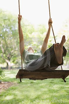 Woman Swinging on Swing. A young woman is swinging on a swing in a park setting. Swing Photography, Photography Women, Photography Tips, Summer Breeze, Poses, Simple Pleasures, Country Life, Country Living, Country Farm