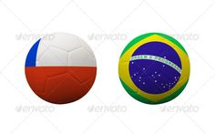 football ...  3d, background, ball, brasil, brazil, championship, chile, competition, country, final, football, game, nation, national, round, second, soccer, symbol, team, three-dimensional, white