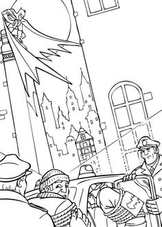 Arrest Of Criminals Coloring Page Do You Like This There Are Many Others In BATMAN Pages