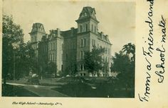 The Sandusky High School which now serves as Adams Junior High was built in 1869.