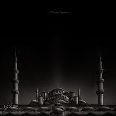 Blue Mosque II by Miguel Angel Martín Campos - Photo 165982629 / 500px.  #500px #blackandwhite #schwarzweiss #noiretblanc #siyahbeyaz #monochrome #sultanahmedmosque #bluemosque #sultanahmetcamii #cami #turkey #türkiye #art #mosque #fine #fineart #augsburg #münchen #ulm #stuttgart #frankfurt #istanbul #ankara #izmir
