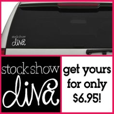 Agrarian Apparel Stock Show Diva Car Decal