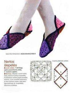ru / Фото - my favorite crochet - zebdok Filet Crochet, Crochet Motif, Easy Crochet, Crochet Stitches, Knit Crochet, Crochet Patterns, Crochet Boots, Crochet Clothes, Granny Square Slippers