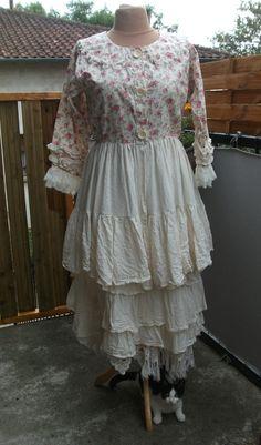 robe,panty-jupon ,shabby chic romantique, boheme ,taille 40/46 ...
