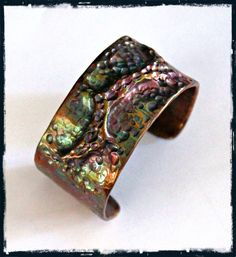 Flame-Painted Air-Chased Cuff Bracelet - Art Jewelry Magazine - Jewelry Projects and Videos on Metalsmithing, Wirework, Metal Clay