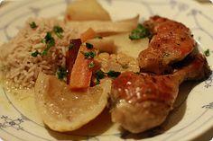 Langtidsstekt kylling med hvitlok, kanel og annet godt  Long roasted chicken with garlic, cinnamon & other good