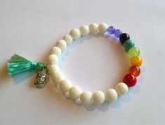 7 Chakra bracelet appropriate both for women and men  Feel the comforting properties of the chakra stones while wearing the mala bead bracelets we
