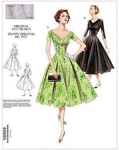 Amazon.com: VOGUE PATTERNS V2903 Misses'/Misses' Petite Dress, Size A (6-8-10) : Arts, Crafts & Sewing