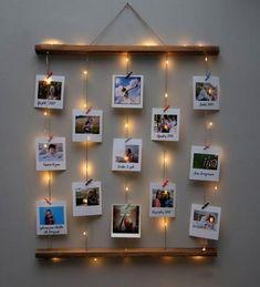 Teenage Girl Gifts Christmas, Christmas Gifts For Mom, Christmas Crafts, Cute Room Decor, Diy Wall Decor, Photo Decoration On Wall, Polaroid Decoration, Christmas Gift Baskets, Christmas Tree Decorations