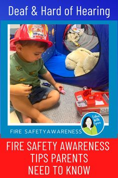 OCTOBER is Fire Safety Month. Information for families of kids that are deaf and hard of hearing to raise fire safety awareness. Blog post with action steps, links and essential next steps to help ensure your home and family are protected. A must share for teachers of DHH, SLPs and listening and spoken language therapists with families.
