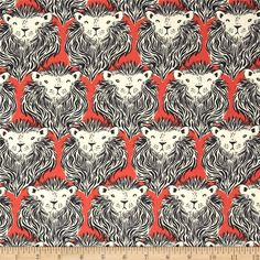 (Fabric I already have) Cotton & Steel August Lion Coral