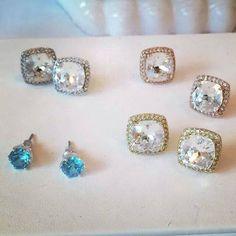 New Fall Swarovski Crystal Earrings by Origami Owl #origamiowl #earrings #swarovski
