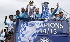 Chelsea have often been accused of parking the bus during previous seasons but the wheels on their team coach were very much in motion during their title parade.