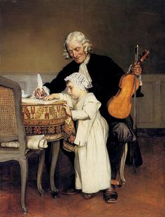 Сharlemont Eduard  (1848–1906)  —  The Music Lesson (583×768) - Pinterest