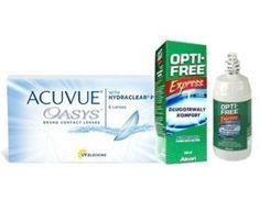 Acuvue Oasys™ 6 Stk. BC 8.8 + Opti-free Express 355 ml