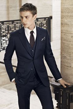 La Dolce Vita - Dark Blue 3 Piece Suit
