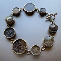 sterling silver, 14k gold, glass, dirt, poppy seeds Gold Glass, Druzy Ring, Metal Working, Poppy, Seeds, Sterling Silver, Bracelets, Rings, Jewelry