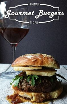 Wine burger: spicy brunello wine jam, 36 months aged parmesan cheese & fresh arugula leaves. The very gourmet Italian burger.
