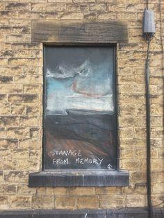 12th September 2013 - Karen Sherwood drawing of Stanage Edge from memory.