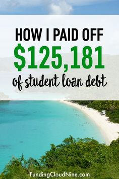 Paying off six figures of student debt is no easy task. Find out how I paid it all off with the Debt Snowball Method (Dave Ramsey) and a loan. Paying Off Student Loans, Student Loan Debt, Ufc, Best Payday Loans, Student Loan Forgiveness, Loan Consolidation, Loan Company, Debt Snowball, Paying Off Credit Cards