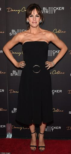 Stealing the show: Jennifer was on red carpet duty on Wednesday as she hit the New York pr...