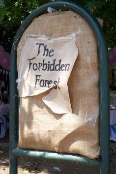 """Do something in the park for the """"Forbidden Forest"""""""